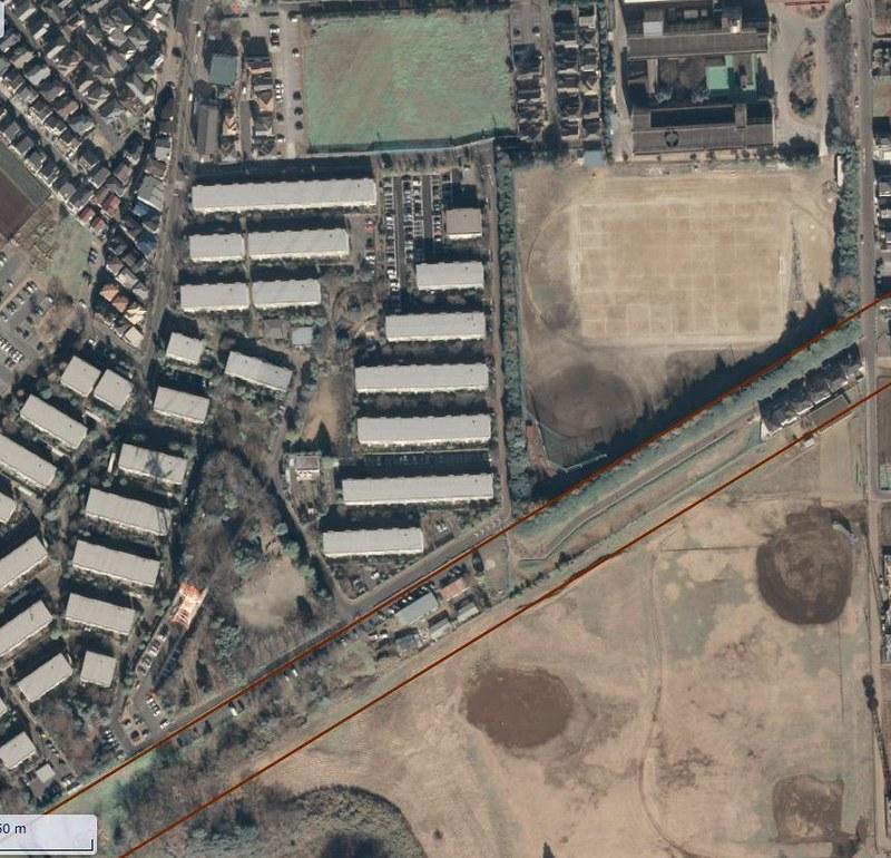 船橋二和高校南側の空間は成田新幹線買収済用地なのか検証する (2)