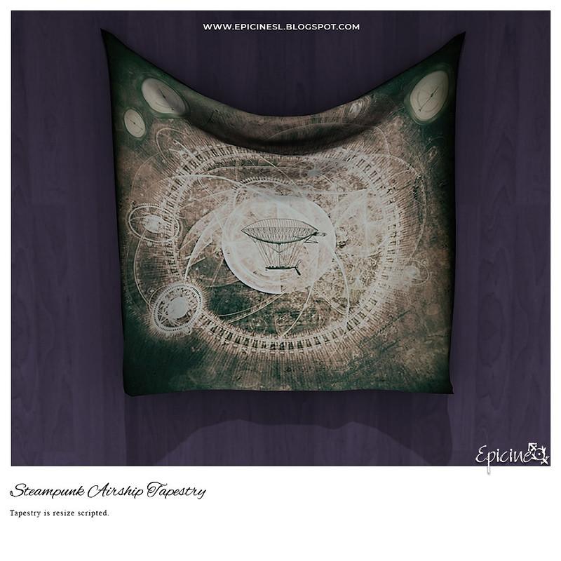 Epicine - Steampunk Airship Tapestry Ad