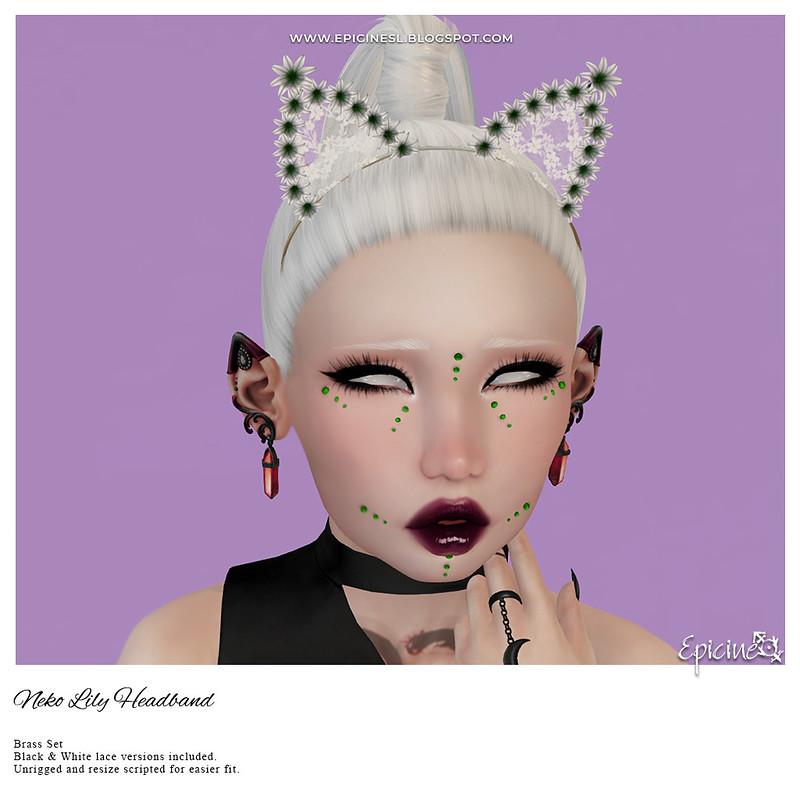 Epicine - Neko Lily Headband - Brass Set Ad