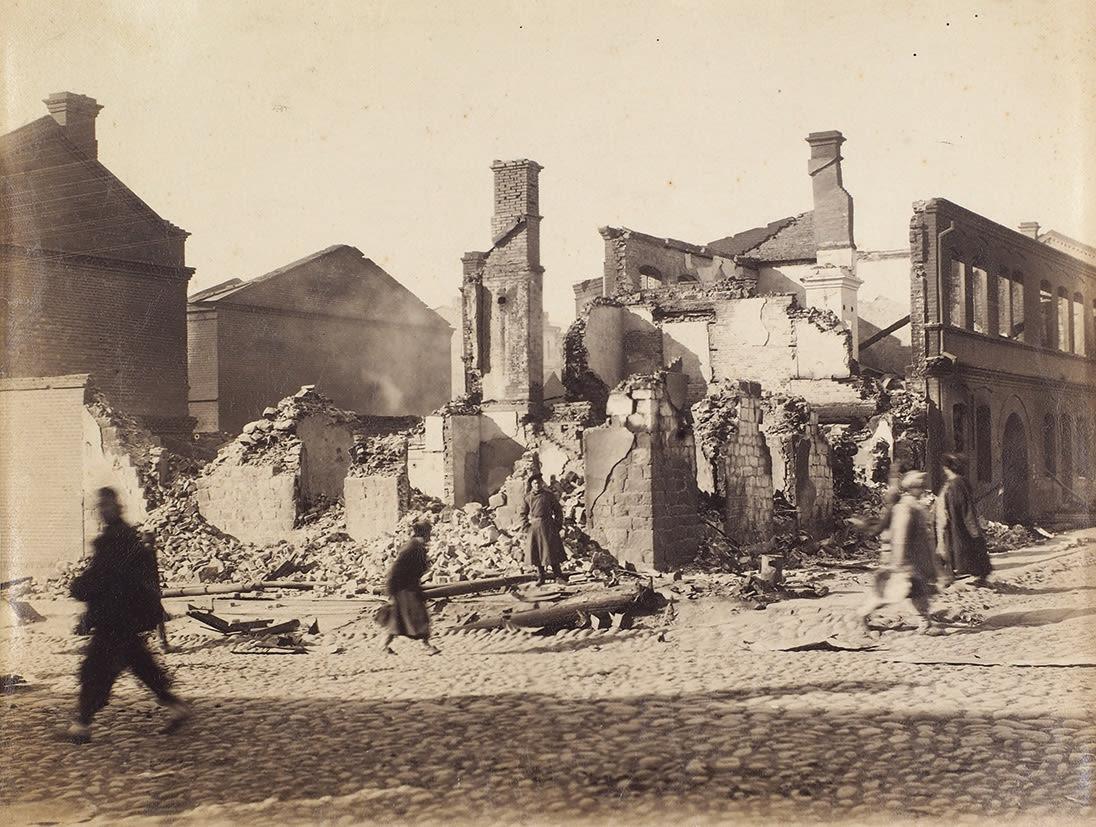 1905. Разрушения в городе после беспорядков