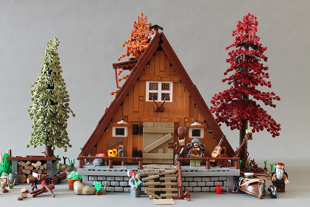 The A-Frame Cabin is now on LEGO IDEAS!