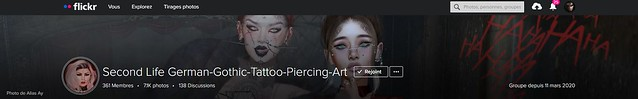 Second Life German-Gothic-Tattoo-Piercing-Art Cover !!