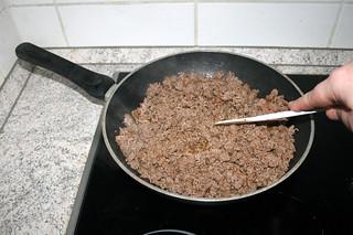 09 - Fry ground beef crumbly / Hackfleisch krümelig anbraten