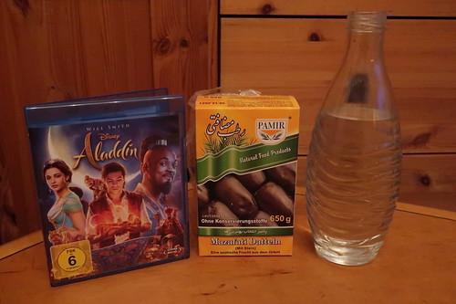 """Mazafati Datteln und gesprudeltes Wasser zum Film """"Aladdin"""""""