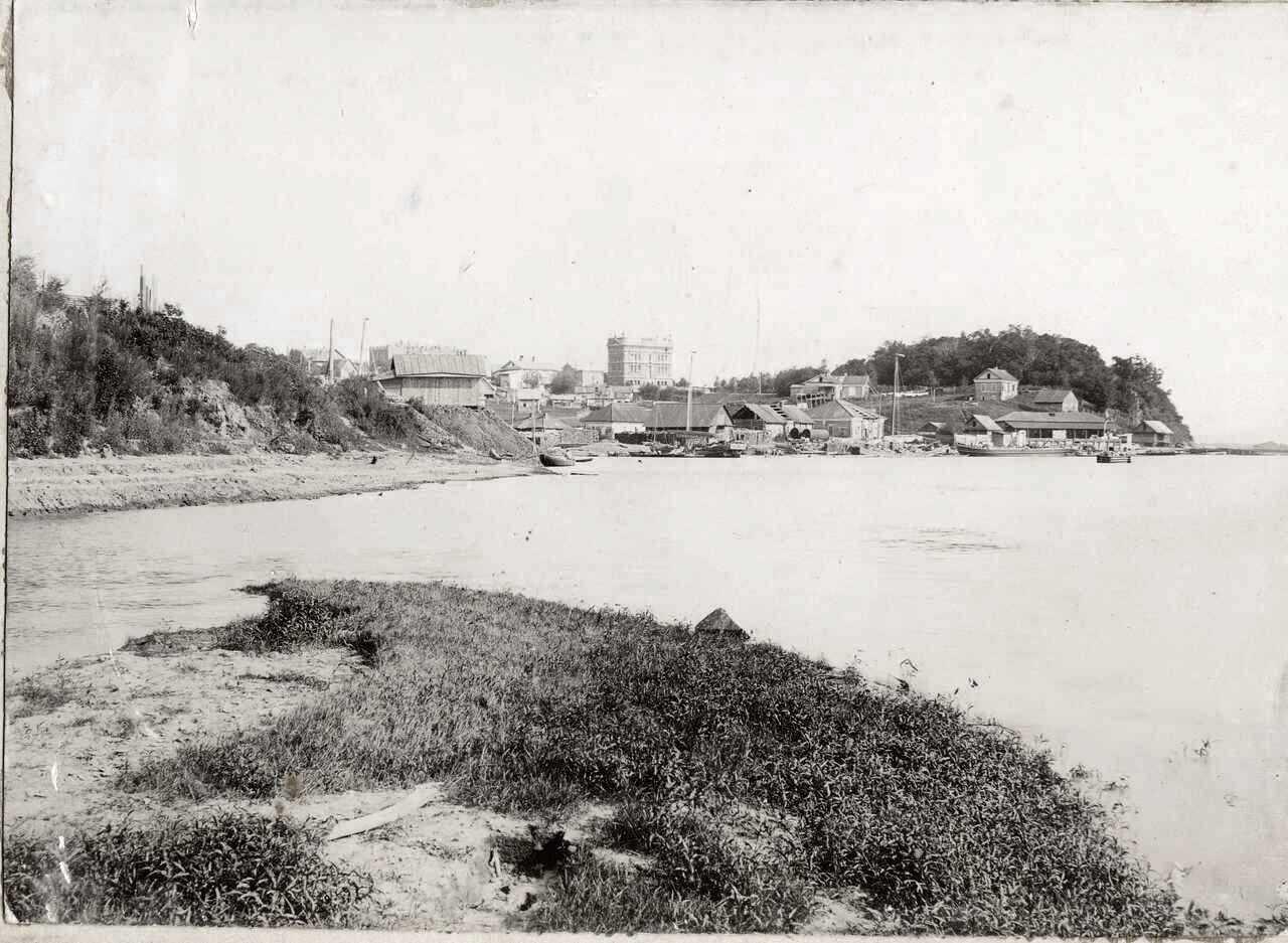 20. Вид пристани в устье реки Чердымовки