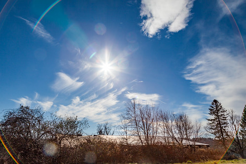 lensflare clouds landscape rural abandoned sun sunburst canon
