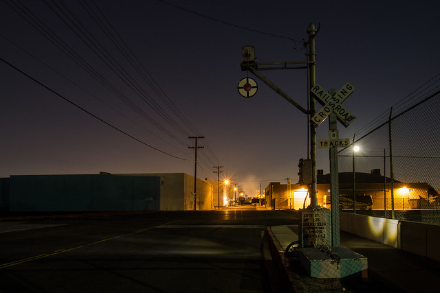 dark crossing. vernon, ca. 2014.