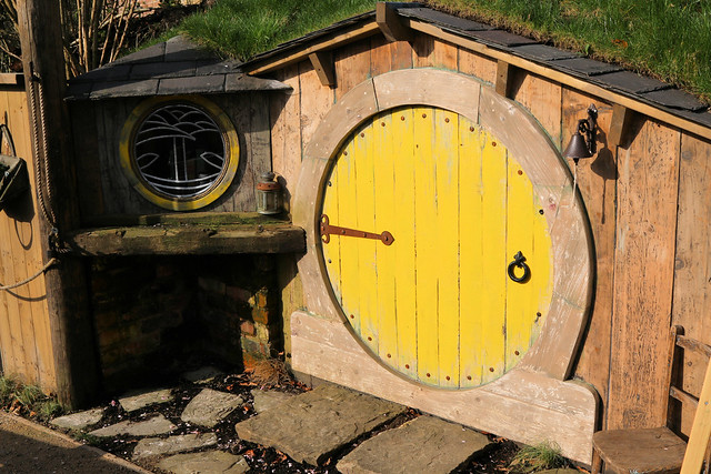 31st March 2021. Hobbit Hole in the Station Park, Irlam, Salford, Greater Manchester