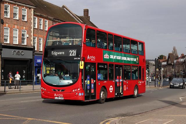 Route 221, Arriva London, DW296, LJ10CUH