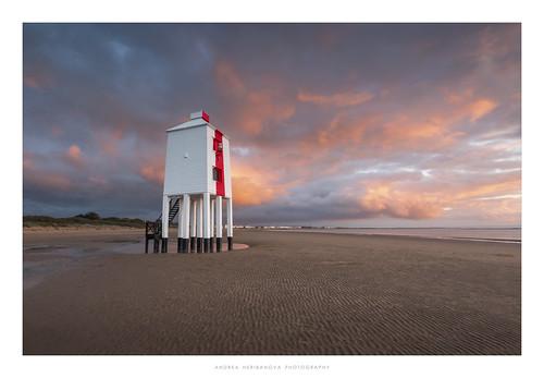 burnhamonsea somerset beach sunset evening clouds colour lighthouse england lowlighthouse