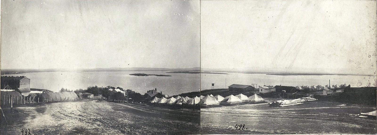 10. Панорама устья реки Уссури. 1912
