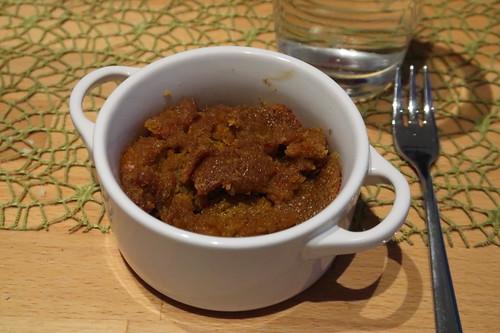 Kürbiscreme-Nachtisch (aufgetaut und aufgebacken)