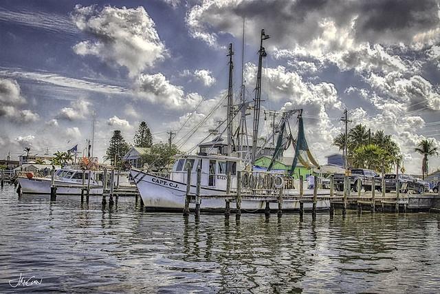 Shrimper in Matlacha, Florida