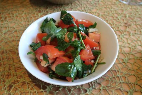 Tomaten-Rucola-Salat (mein Schälchen)