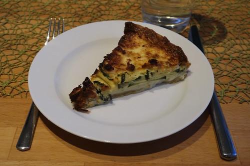 Zucchini-Tarte (aufgetaut und aufgebacken)