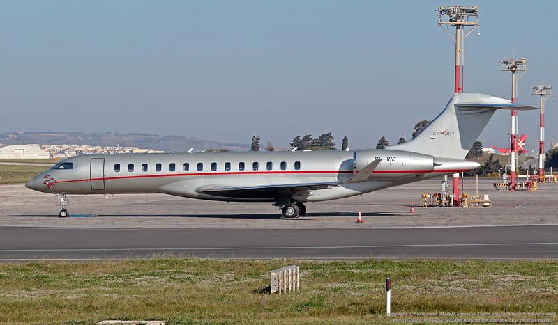 9H-VIC LMML 02-04-2021 VistaJet Bombardier BD700 Global 7500 CN 70058
