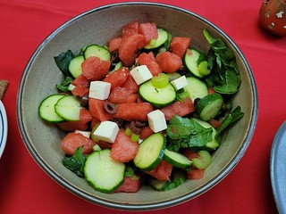 Feta, Watermelon, and Cucumber Salad from Coles Magazine