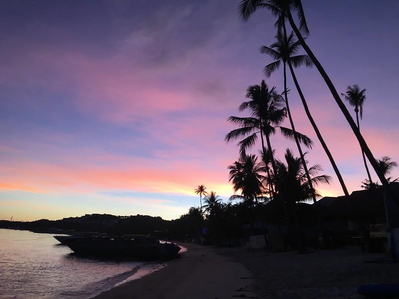 サムイ島の朝焼け sunrise bangrak koh samui