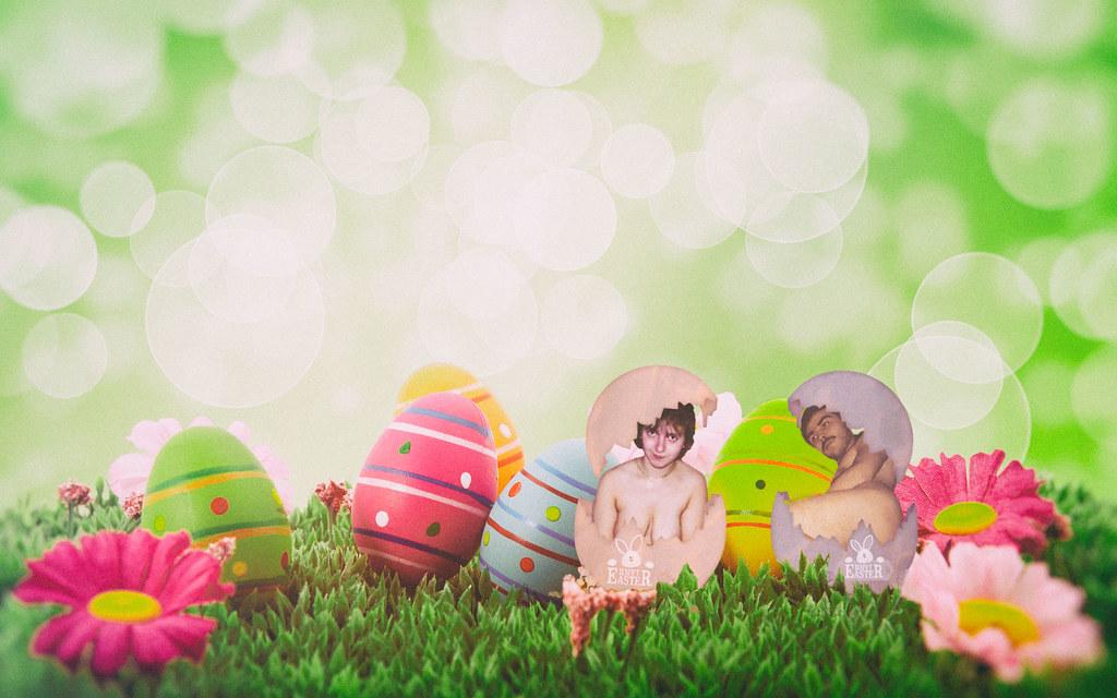 Manuela and Alex naked at Easter   Manuela und Alex nackt