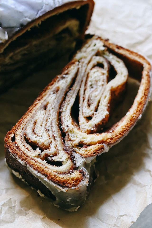 Cinnamon Swirl Babka with Brown Butter Glaze