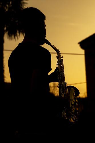 sundown sunset jazz saxophone silleda vigo tamron