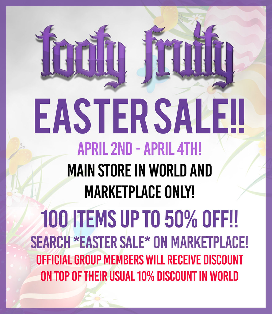 Tooty Fruity Easter Sale 2021!