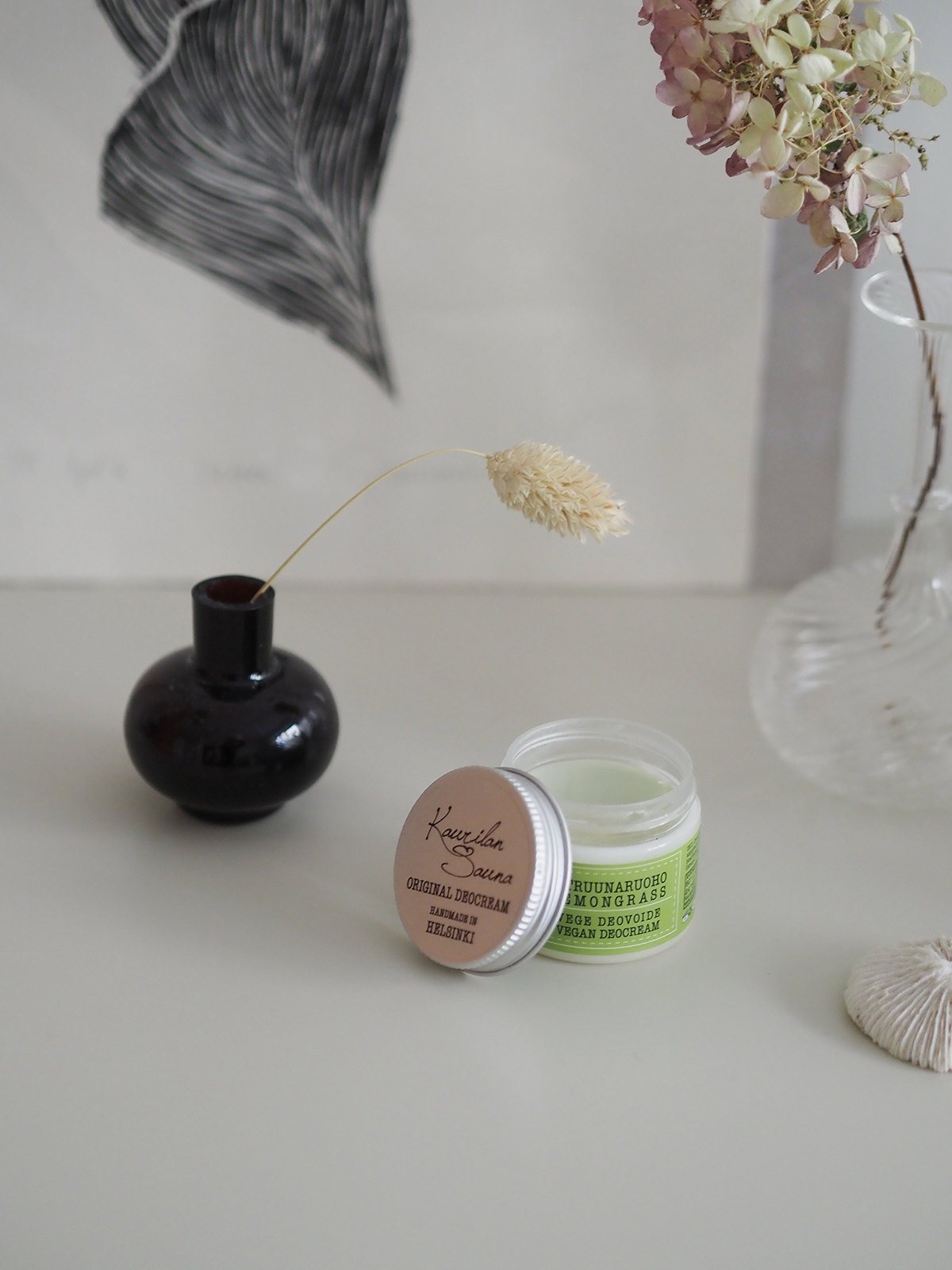 Toimiva luonnollinen deodorantti Kaurilan Sauna