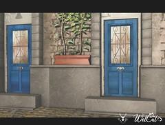 """Oh Deer & WetCat """"Blue Door"""" Backdrop"""