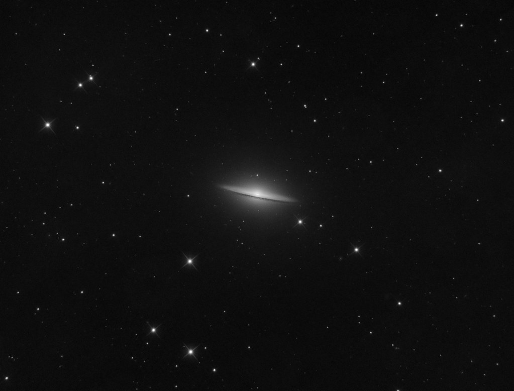 M104 from backyard by near-infrared imaging
