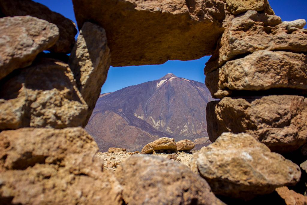 Teide desde el primer observatorio astronomico de Tenerife