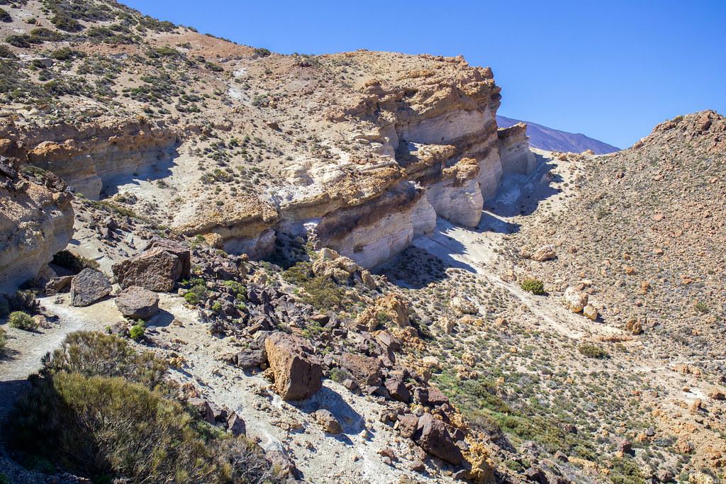 Piedra pómez en el parque nacional del Teide
