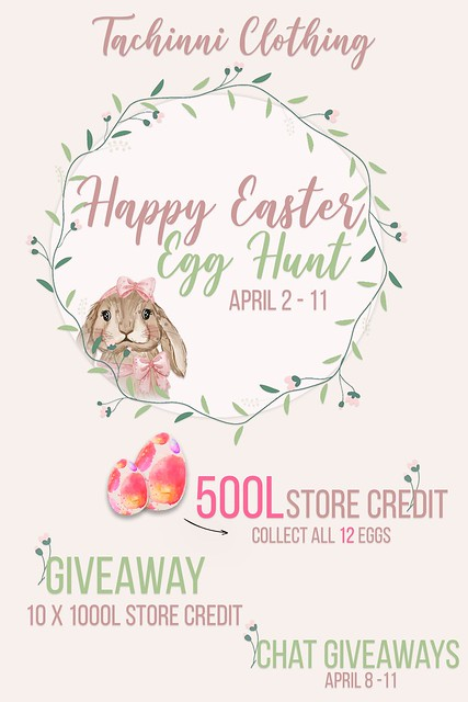 Tachinni x Vision - 🔥10,000L$ GIVEAWAY STORE CREDIT🔥 + 🐰EASTER HUNT