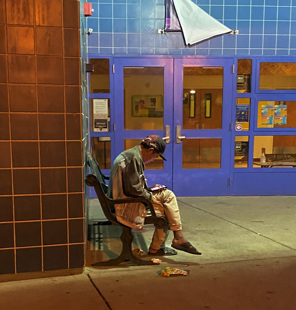 A homeless immigrant calling home from the Fruitvale District, Oakland California.