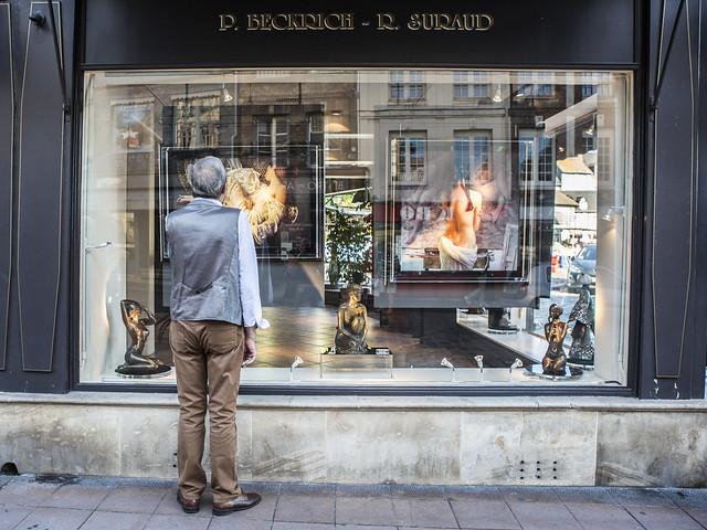 Art in shopping windows