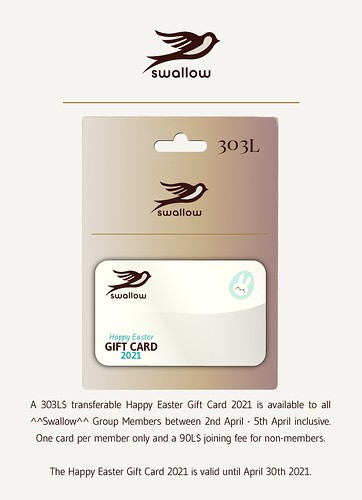 ^^Swallow^^ Happy Easter Gift Card 2021 303L$ (April 2/5)