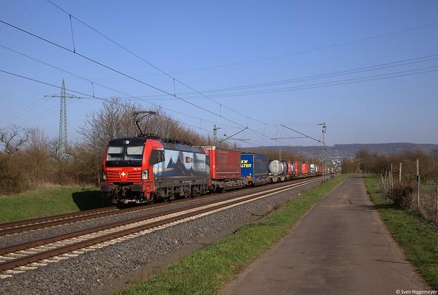 SBB Cargo 193 473 mit KLV in Bingen-Gaulsheim.