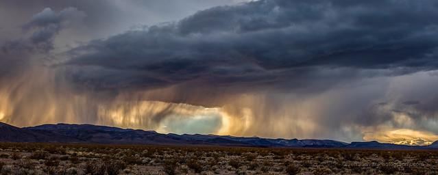 Sunset Desert Shower