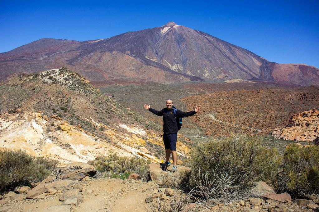 Sendero número 31 en el parque nacional del Teide