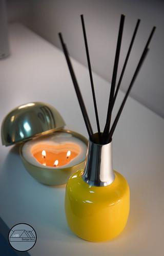 Vase et bougies