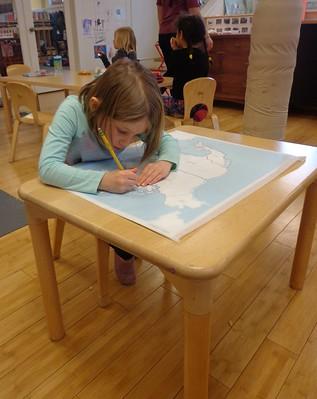 tracing North America