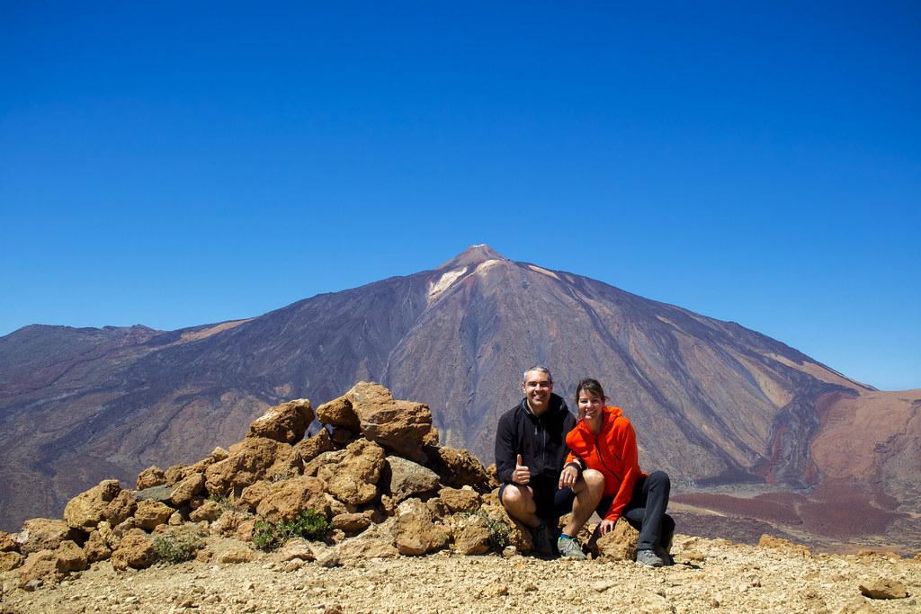 Alto de Guajara con el Teide de fondo