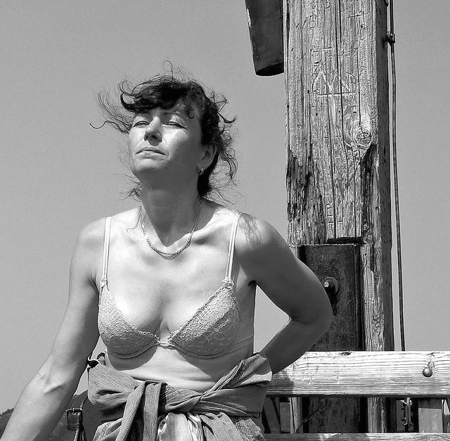 Helena Sunbathing