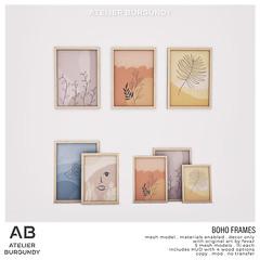 Atelier Burgundy . Boho Frames
