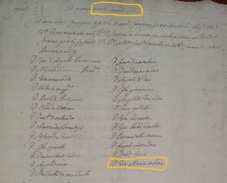 Ottobre 1612 - Documento ritrovato da Paolo Valerio