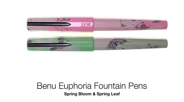Benu Euphoria Fountain Pens Spring Bloom & Spring Leaf - Giveaway!