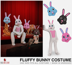 NEW! Fluffy Bunny Costume @ Cravone Shop & Hop