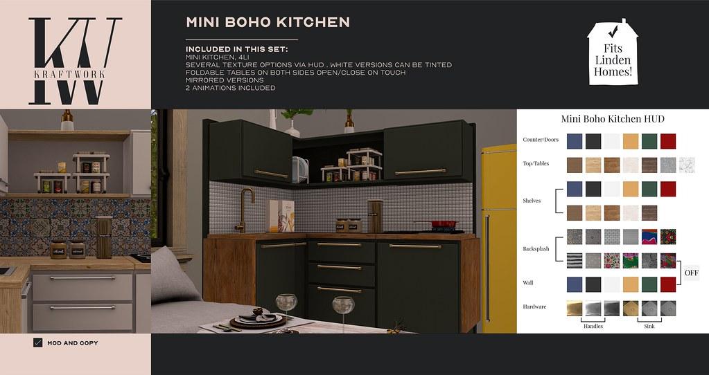 KraftWork Mini Boho Kitchen at Anthem (Fits Linden Homes)