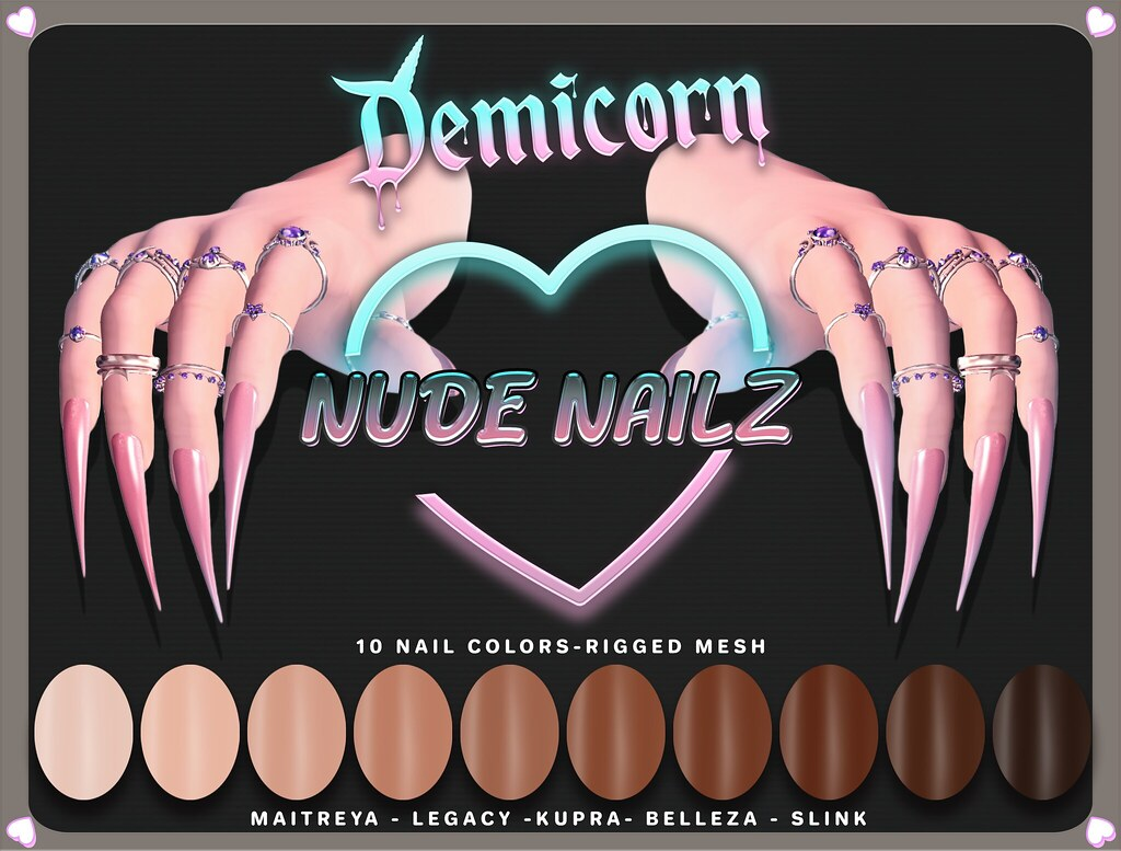 {Demicorn} Nude Nailz 24hr 69L PROMO 4/2