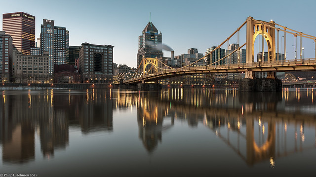 The Allegheny River, with Downtown and Its Reflection Stealing Your Attention