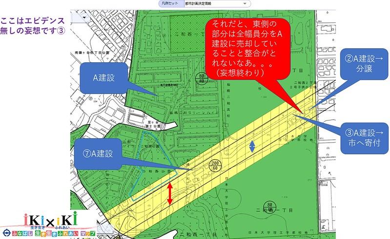 船橋二和高校南側の空間は成田新幹線買収済用地なのか検証する 2 (4)